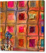 Ms Cool Goes Window Watching In Color Canvas Print
