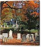 Mt Auburn Cemetery 12 Canvas Print