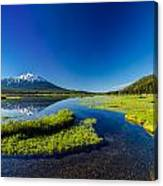 Mt. Bachelor Reflection And Forest Canvas Print