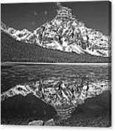 1m3641-bw-mt. Chephren Reflect  Canvas Print