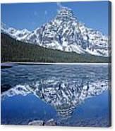1m3641-mt. Chephren Reflect Canvas Print