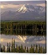 Mt Drum Over Willow Lake Wrangell-st Canvas Print