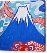 Mt. Fuji And A Red Dragon Canvas Print