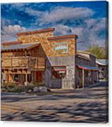 Mt Gardner Inn And Fly Shop Canvas Print