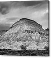 Mt. Garfield - Black And White Canvas Print