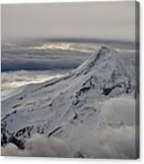 Mt. Hood Between Clouds Canvas Print