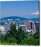 Mt Hood Portland Oregon Usa Canvas Print