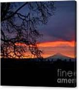 Mt Hood Sunrise Canvas Print