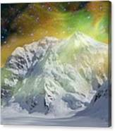 Mt. Hunter Aurora # Da 129 Canvas Print