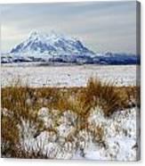 Mt Illimani In Winter Canvas Print