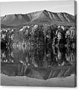 Mt Katahdin Black And White Canvas Print