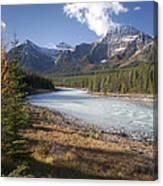 Mt Kerkeslin And Athabaska River Jasper Canvas Print