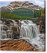 Mt. Kerkeslin  Athabasca Falls Canvas Print