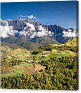 Mt. Kinabalu - The Highest Mountain In Borneo Canvas Print