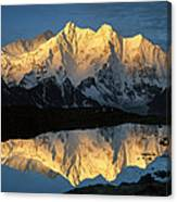 Mt Makalu And Mt Chomolonzo Canvas Print