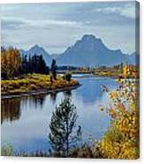 1m9208-mt. Moran And The Snake River, Wy Canvas Print