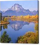1m9234-mt. Moran Reflection, Wy Canvas Print