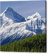1m3627-mt. Outram And Mt. Forbes Canvas Print