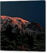 Mt Rainier At Dawn Canvas Print