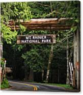 Mt Rainier Gateway Canvas Print
