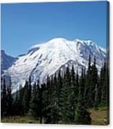 Mt. Rainier In August Canvas Print