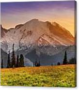 Mt. Rainier Sunset 2 Canvas Print