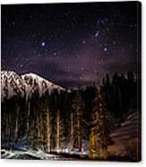 Mt. Rose Highway And Ski Resort At Night Canvas Print