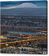 Mt Saint Helens During Blue Hour Canvas Print