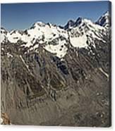 Mt Sefton Hooker Glacier And Mt Cook Canvas Print