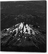 Mt Shasta Black And White Canvas Print