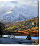 Mt Snowdon Snowdonia The Snowdon Horseshoe From Llynnau Mymbyr Canvas Print