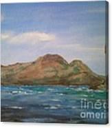 Mt.talinis Volcano From Apo Beach Resort Canvas Print