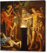 Mucius Scaevola In The Presence Of Lars Porsenna Canvas Print