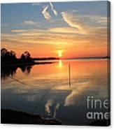Mud Cove Sunset Canvas Print