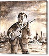 Muddy Waters In Chicago Canvas Print