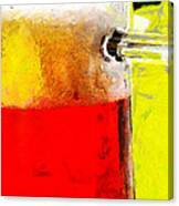 Mug Of Beer Painting Canvas Print