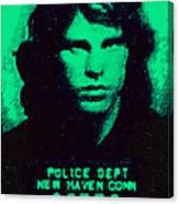 Mugshot Jim Morrison P128 Canvas Print