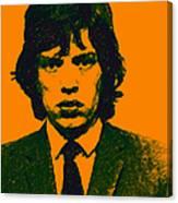 Mugshot Mick Jagger P0 Canvas Print