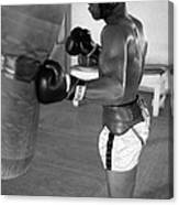 Ali Punching Bag Canvas Print