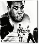 Muhammad Ali The Greatest Canvas Print