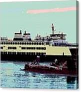 Mukilteo Clinton Ferry Panel 3 Of 3 Canvas Print