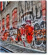 Mulberry Street Graffiti Canvas Print