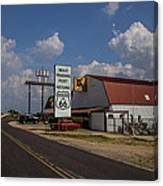Mule Trading Post Canvas Print