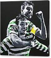 Mulgrew And Watt - Glasgow Celtic Fc Canvas Print