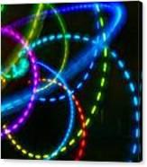 Multi-color Light Orbits Canvas Print