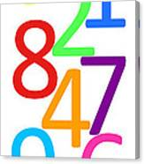 Multi-color Numbers Canvas Print