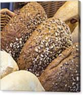 Multi Grain Bagels Closeup Canvas Print