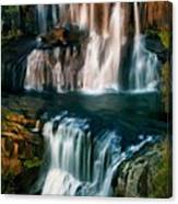 Multi-tiered Waterfalls Canvas Print