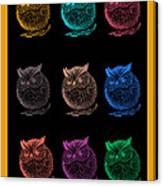 Multicolor Owl Canvas Print