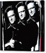 Multiple Johnny Cash Sitting Old Tucson Arizona 1971-2008 Canvas Print